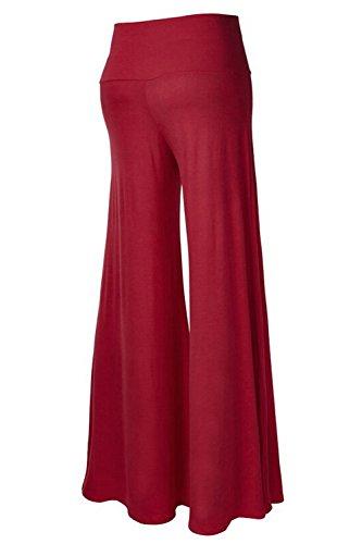 Le Donne In Pantaloni Larghi Casual Alto Palazzo Ultra Gamba Pantaloni Yogo Lounge Pantaloni Wined