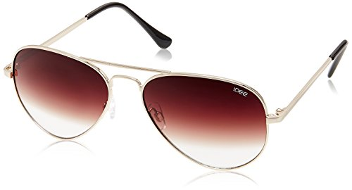 IDEE Aviator Sunglasses (IDS1700C27SG|57|Golden ) image