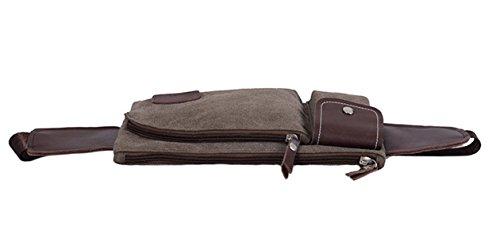 Moda Uomo Mette In Mostra Grandi Tasche Capacità Stoffa Multicolore,LightBrown-27*1*15cm Brown