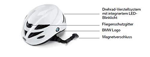 BMW Original Kids Bike Helm Kinderhelm intergriertem LED Rücklicht Größe M