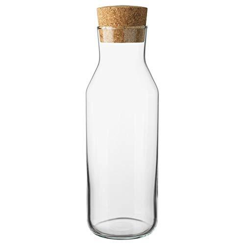 "IKEA 365+ Slim Karaffe mit Korken Deckel, Glas Wasser Krug, Glas Kühlschrank Karaffe, Ice Tea Maker 11"" tall x 3.5"" diameter farblos"