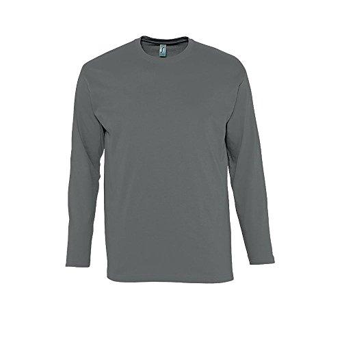 Langarm T-Shirt Monarch Dark Grey (Solid)