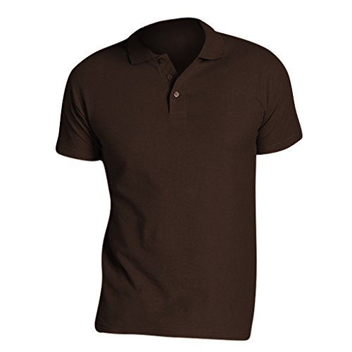 SOLS Herren Summer II Pique Polo-Shirt, Kurzarm Schokolade
