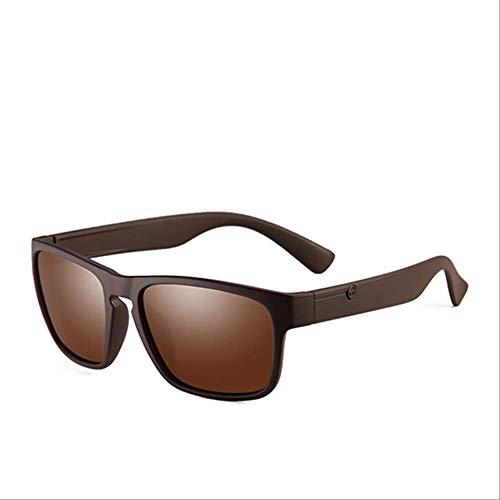 MJDL Marke polarisierten Sonnenbrillen für Männer Kunststoff Oculos De Sol Herrenmode Platz Driving Brillen Reisen Sonnenbrillen C3 Braun Braun