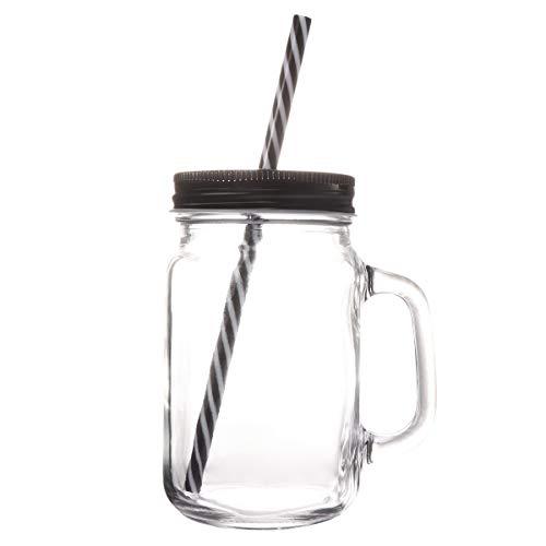 n Cup Doppelwand Isolierglas Becher mit Deckel (schwarz) ()