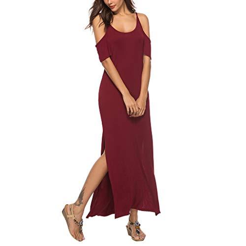 (Women Maxi Long Dress Summer Bohemian Sexy Off Shoulder Casual Beach Sundress, Spring Sale)