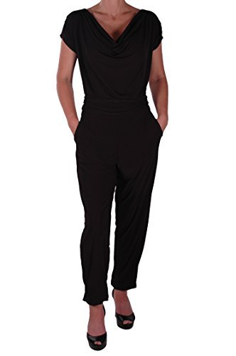 Eyecatch - Brooke Damen Casual alle in einem Jumpsuit Kurzer Overall Hosen Top Plus Size Gr. 46