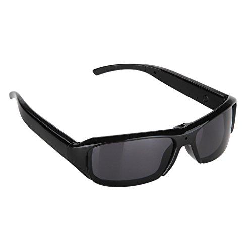 Excelvan® 720p Video-Sonnenbrille, Camcorder, 5,0 MP, HD, polarisierte Sonnenbrille, Sonnenbrille mit Video-Aufnahme-Funktion, TF-Karte, unterstützt maximal 32 GB