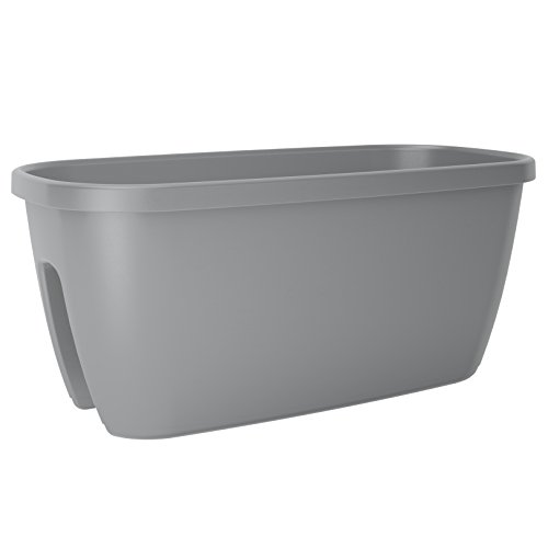 Emsa Pot pour Balustrade City 60 cm Gris, 28x28x18 cm
