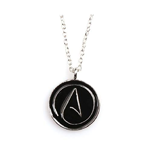HDCooL Atheist Necklace Men's Pendant Christmas Thanksgiving Gift for Couple Best Friends