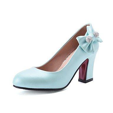 WSX&PLM Da donna-Tacchi-Matrimonio Formale Serata e festa-Cinturino-A stiletto-PU (Poliuretano)-Nero Giallo Rosa Rosso Bianco Tessuto almond blue
