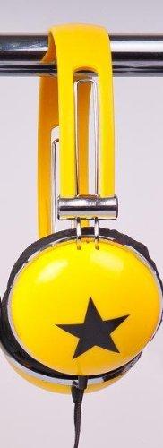 Stereo KOPFHÖRER im Retrostyle, geschlossen, ca. 125g leicht, Kabellänge: ca. 140cm, NEU, Farbe: gelb