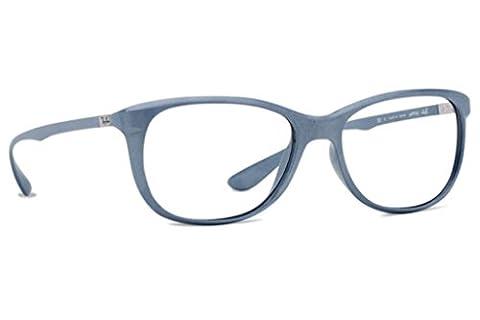 Ray Ban Optical Women's Rx7024 Matte Pearl Frame Plastic Eyeglasses, 56mm