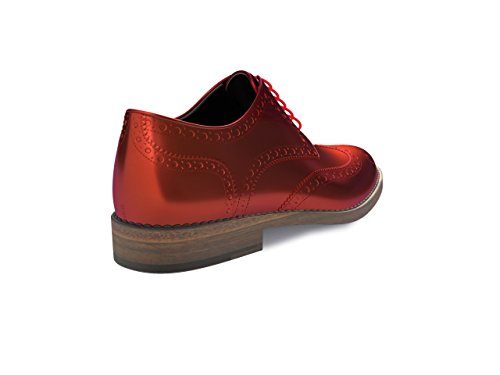 DIS - Monica – Derby Full Brogue – Femme Rouge