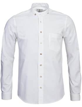 Almsach Trachtenhemd Slimline in Weiß