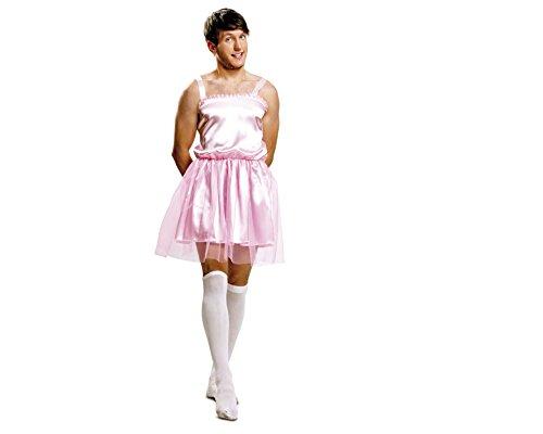 Imagen de my other me  disfraz de bailarina para hombre, talla m l, color rosa viving costumes mom01350