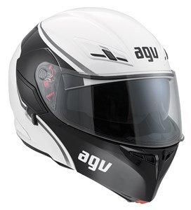 AGV Helmets Casco de Moto, color Course Blanco/Gunmetal, talla XS