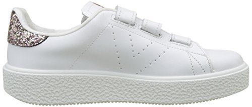 Sports Victoria Velcros Leather, Baskets Unisexe - Rose Adulte