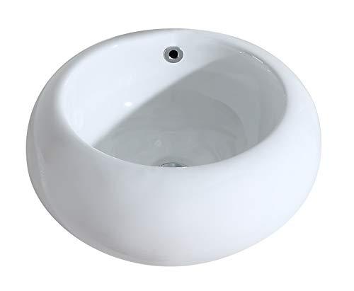 ERIDANUS, Vasque à Poser Lavabo Lave-Mains Évier Ovale/Rond