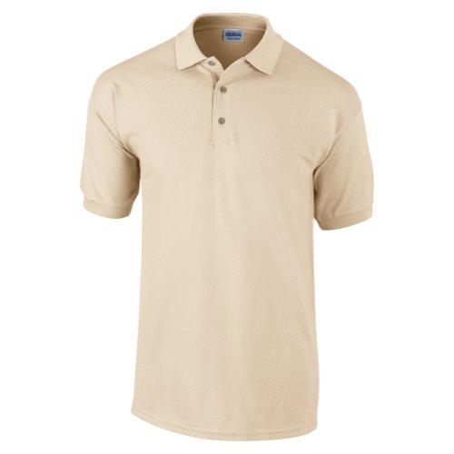 Gildan Ultra Herren Piqué Polo-Shirt, Kurzarm Sandfarben