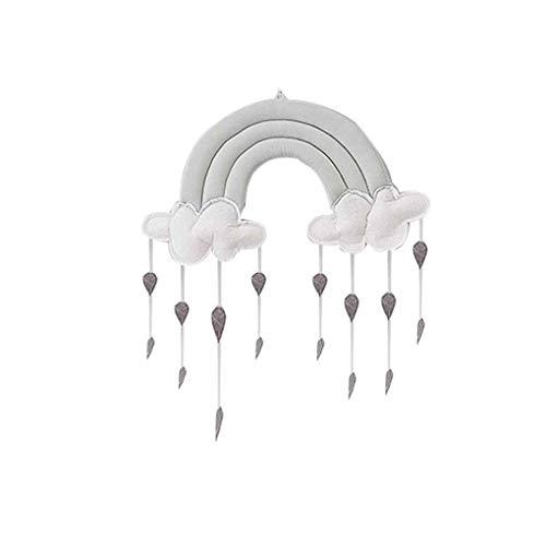 Arichtop Neugeborene Wolke Regenbogen Regentropfen Wand Spielzeug Baby-Bett-Zelt-Anhänger Krippe Hanging Toy Room Ornament Baby-Foto Props