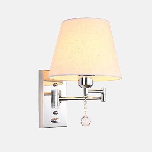 Xungel Nachtwandleuchte Led Schlafzimmer Lichter Holzmaserung Tuch Hotel USB Rocker Arm Lampe Schalter Beleuchtung Wand Kontrollleuchte Leselampe Dekoration Multifunktions Lampenschirm -
