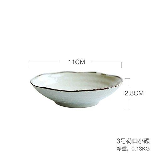 Yuwanw giapponese in ceramica stoviglie cherry snow punto casa a mangiare zuppa di riso ciotola di ramen piatti sub-dish, no. 3olandese port piattino