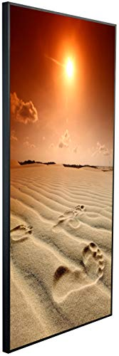 InfrarotPro | Infrarotheizung 750 Watt | Bildheizung 120x60x3 cm | Made in Germany | Geprüfte Technik | Ultra-HD Auflösung | (Fußabdruck in der Sahara)