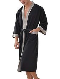 Besweeton Albornoz Hombre Ducha Waffle Bata de Baño Kimono Ropa De Dormir Camisón Ligero De Encaje SPA Hotel