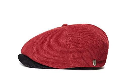 Brixton Brood Cord SNAP Cap Headwear, Schwarz/Rot, XL Cord-snap