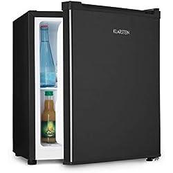 Klarstein Snoopy Eco - Mini réfrigérateur avec congélateur, Capacité de 46L, Compartiment congélateur 4L, 41dB, Économe en électricité, Noir