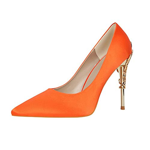 Womens Stiletto High Heel Pumps wies Closed Toe Classic Slip auf Hochzeit Kleid Pumps (Rosa Zebra-kleid Heiß)