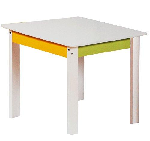 Unbekannt 3 Tische für Kinder - aus sehr stabilen Holz -  Bunte Eulen - weiß / grün / gelb  - Kindertisch - Kindermöbel für Jungen & Mädchen - Kinderzimmer für Circa ..