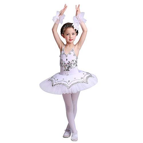 uirend Mädchen Pailletten Ballerina Kostüme - Pailletten Ballett Trikot Prinzessin Kostüme Tanz Tutu Kleid Gymnastik Performance Trikot Rock
