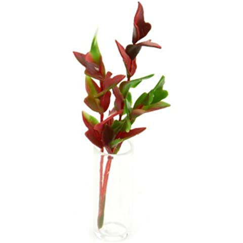 MyTinyWorld Racimo De Miniatura Para Casa De Muñecas Rojo Y Verde Planta Follaje