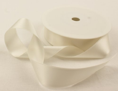 2-metres-of-25mm-wide-double-faced-satin-ribbon-choose-from-23-colours-ivory