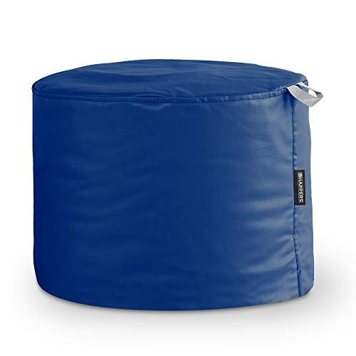 HAPPERS Puff Taburete Polipiel Outdoor Azul