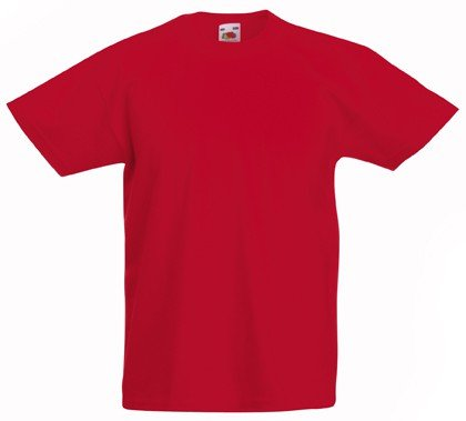 Fruit of the Loom - Kids Value Weight T / Red, 152 152,Red