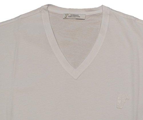 Versace Collection Herren T-Shirt Schwarz Schwarz Schwarz - Weiß