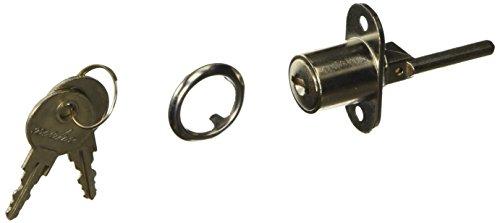 Sourcingmap - Serratura a cilindro per cassetto, in metallo, con 2 chiavi, 19 mm, colore: Argento