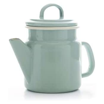 Vintage Home - Small QUALITY Enamelware COFFEE POT - SAGE GREEN - 1.2 litre