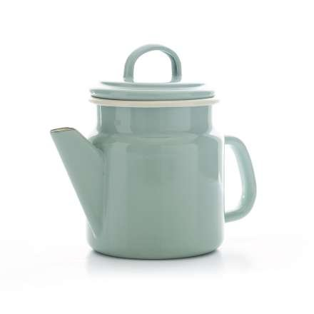 Vintage Home - Small QUALITY Enamelware COFFEE POT - SAGE GREEN - 1.2 litre by Vintage Home - Sage Green Coffee