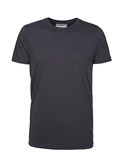ARMEDANGELS Herren Basic T-Shirt aus Bio-Baumwolle - James - GOTS, ORGANIC, CERES-008 Acid Black