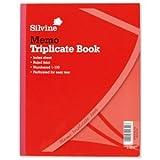 Silvine 606 Rechnungsheft mit Durchschlagpapier mit Inhaltsblatt und Kohlepapier liniert