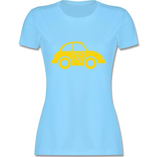 Autos - Liebes Beetle Auto - tailliertes Premium T-Shirt mit Rundhalsausschnitt für Damen Hellblau