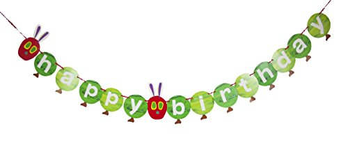 World of Eric Carle, The Very Hungry Caterpillar Party Supplies, Happy Birthday Garland Decoration, Paper, 3M