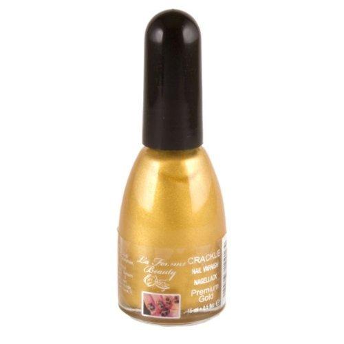 La Femme Crackle Shatter Effect Nail Polish - Gold by La Femme