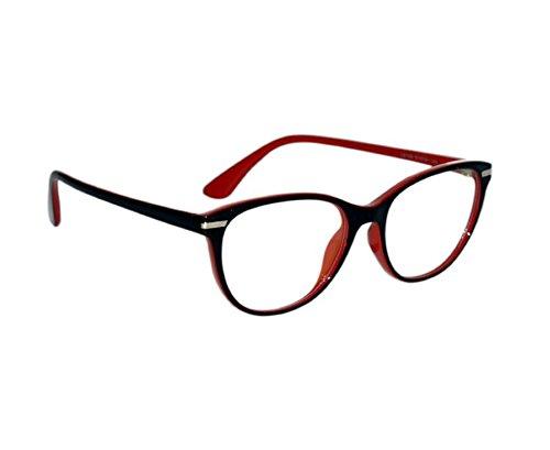 Peter Jones Stylish Black & Red Cat-eye Optical Frame