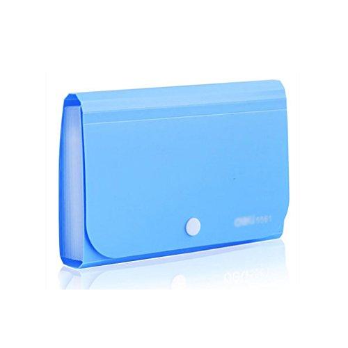 Liu Yu·Bürofläche, Bürobedarf blau Schaltfläche Abzug Ordner 12-Layer-Datei-Paket 178 * 115mm (Datei-ordner-schaltfläche)