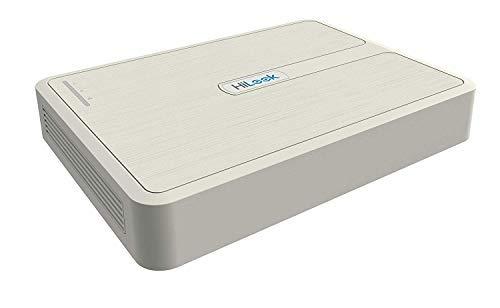 HiLook by Hikvision NVR-104H-D/4P 4-Kanal 1080P IP Netzwerk NVR PoE Netzwerk Video Recorder H.265+ weiß (ohne HDD) -